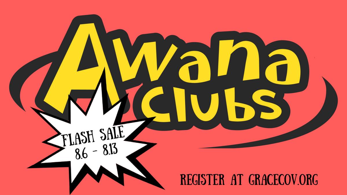 AWANA Flash Sale: Aug. 6 - Aug. 13