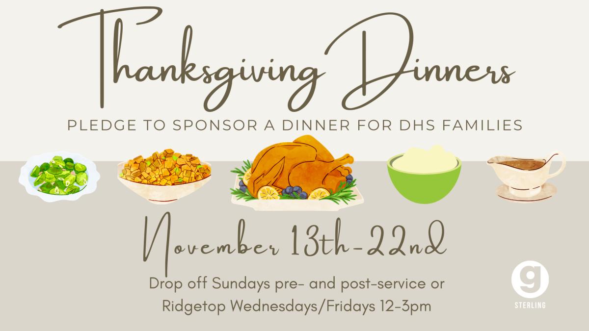 DHS Thanksgiving Dinner Bag Sponsorship